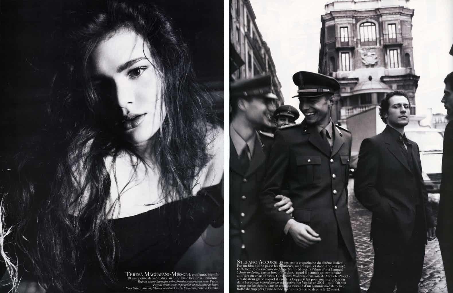 VOGUE PARIS - 2006 Photographer: Mario Testino Model: Carine Roitfeld Stylist: Eva Herzigova - Mariacarla Boscono Location: Rome - Italy