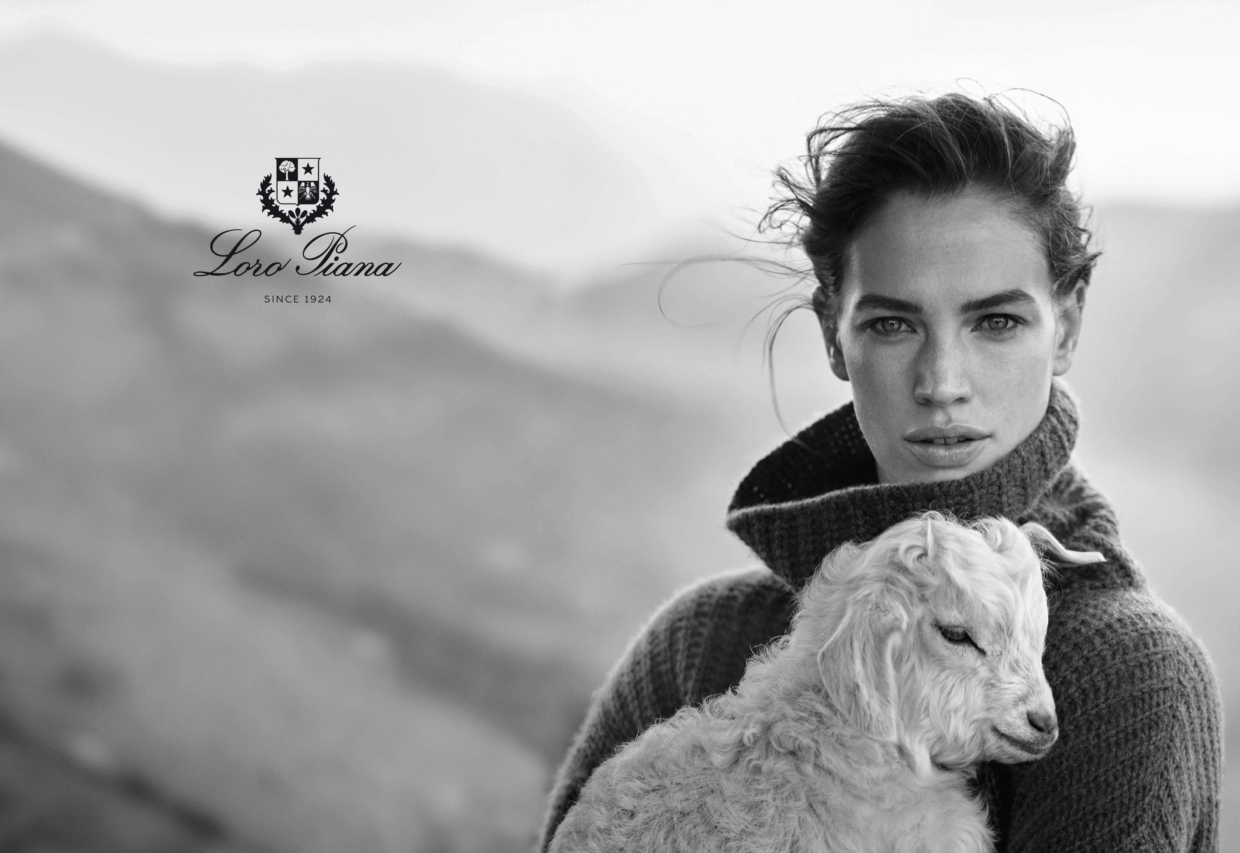 LORO PIANA - Fall Winter 16/17 Photographer: Boo George Model: Crista Cober, Robertas Aukstuolis Stylist: Beat Bollinger Location: Gran Sasso, Abruzzo, Italy