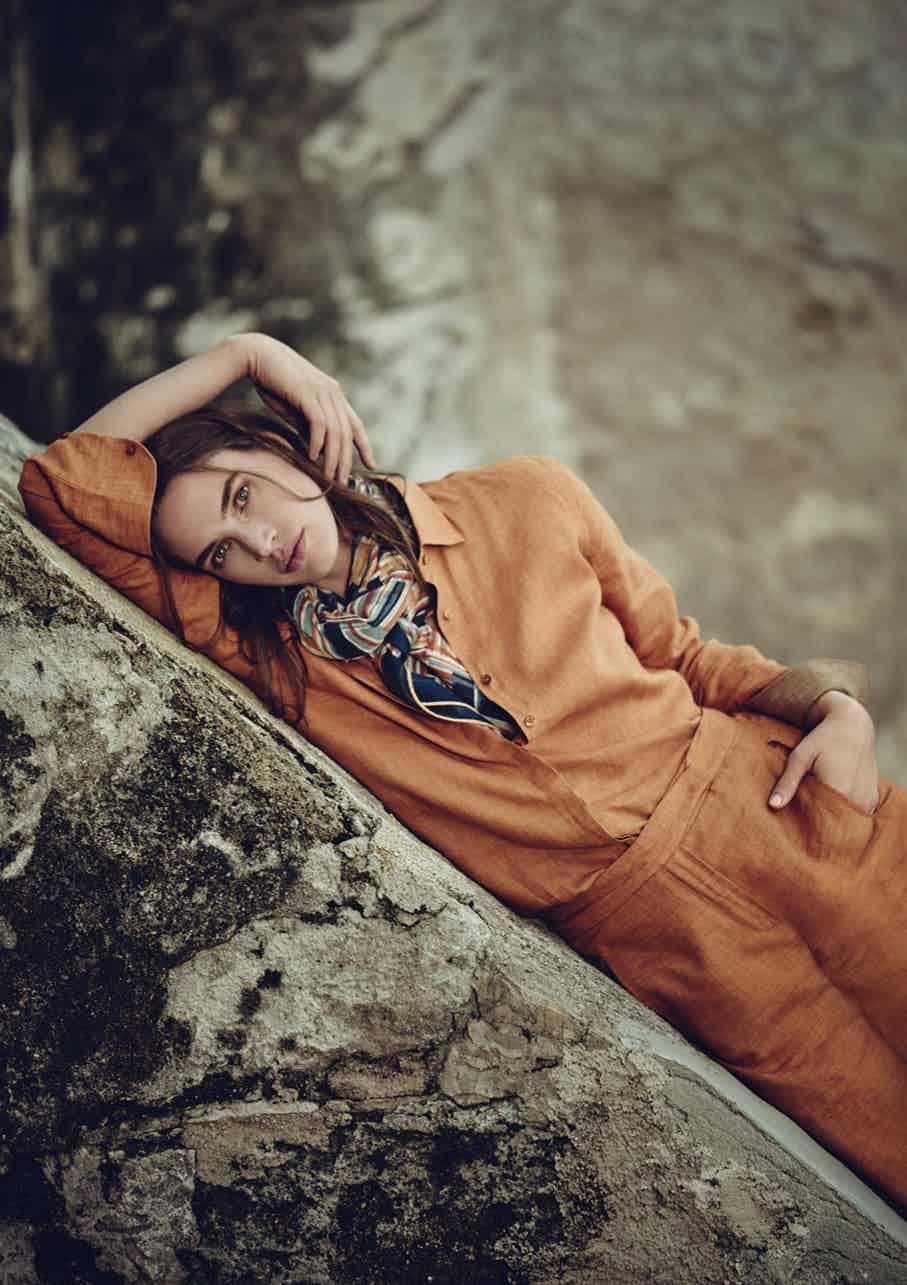LORO PIANA - Spring Summer 2017 Photographer: Boo George Model: Crista Cober, Robertas Ikjillmtgfhv Stylist: Beat Bolliger Location: Sicily, Italy