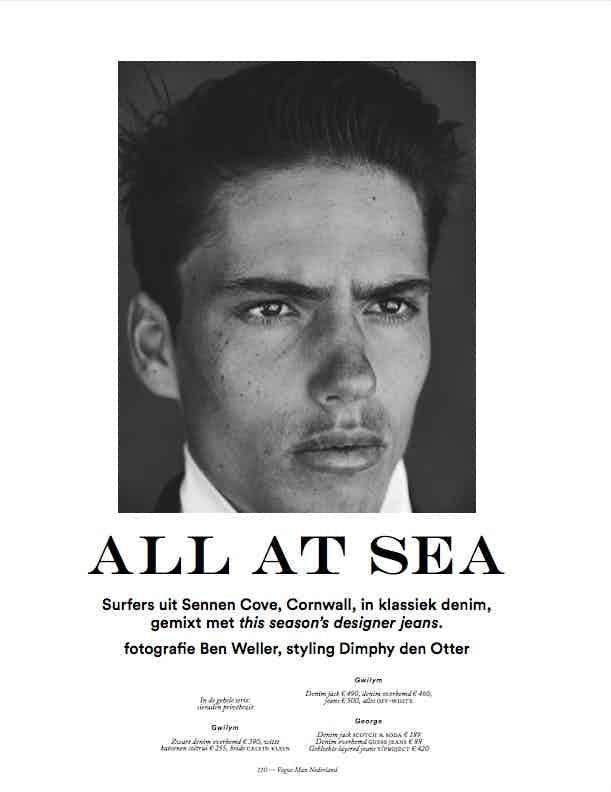 VOGUE MAN NETHERLANDS - October 2017 Photographer: Ben Weller Model: Street Casting Stylist: Dimphy Den Otter
