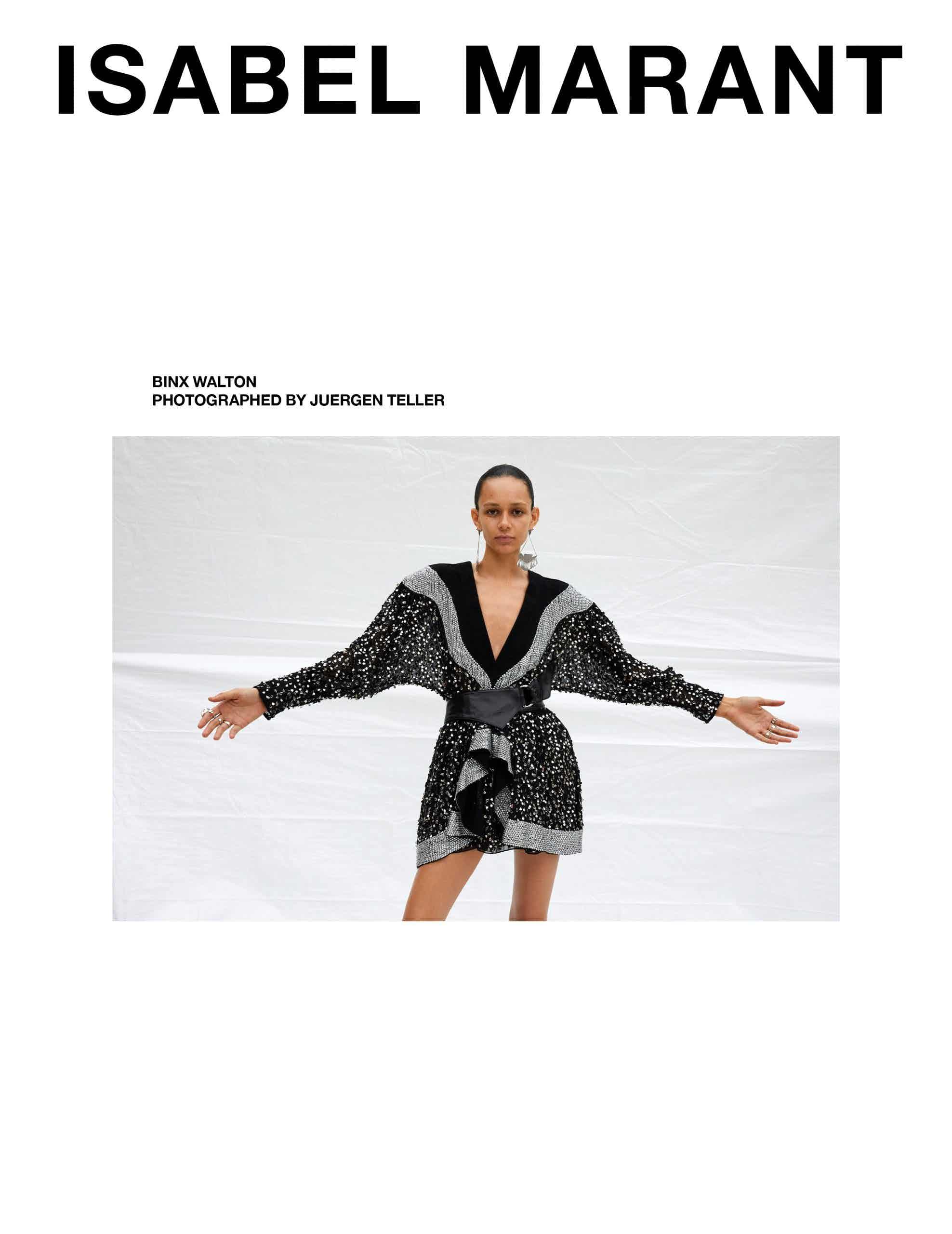 ISABEL MARANT - AW 2019 Photographer: Juergen Teller Model: Anna Ewers, Cara Tylor, Binx, Parker Van Noord Stylist: Geraldine Saglio Location: Paris