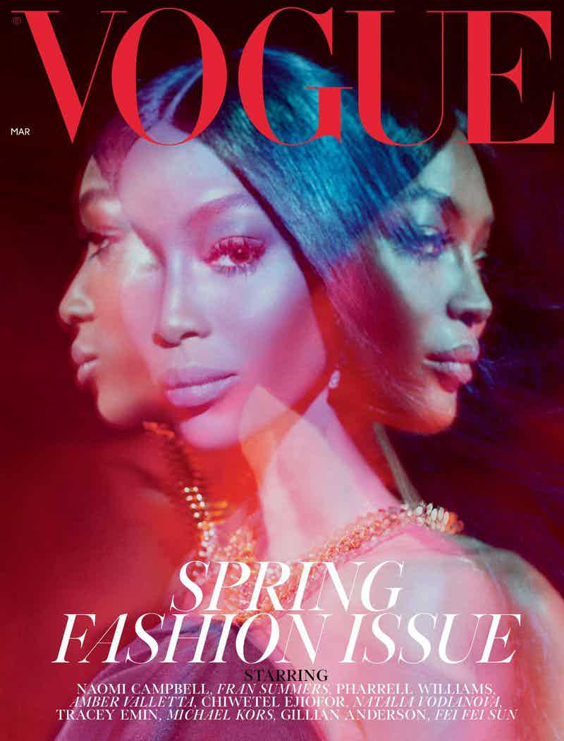 VOGUE UK - MARCH 2019 Photographer: Juergen Teller Model: Naomi Campbell Location: London