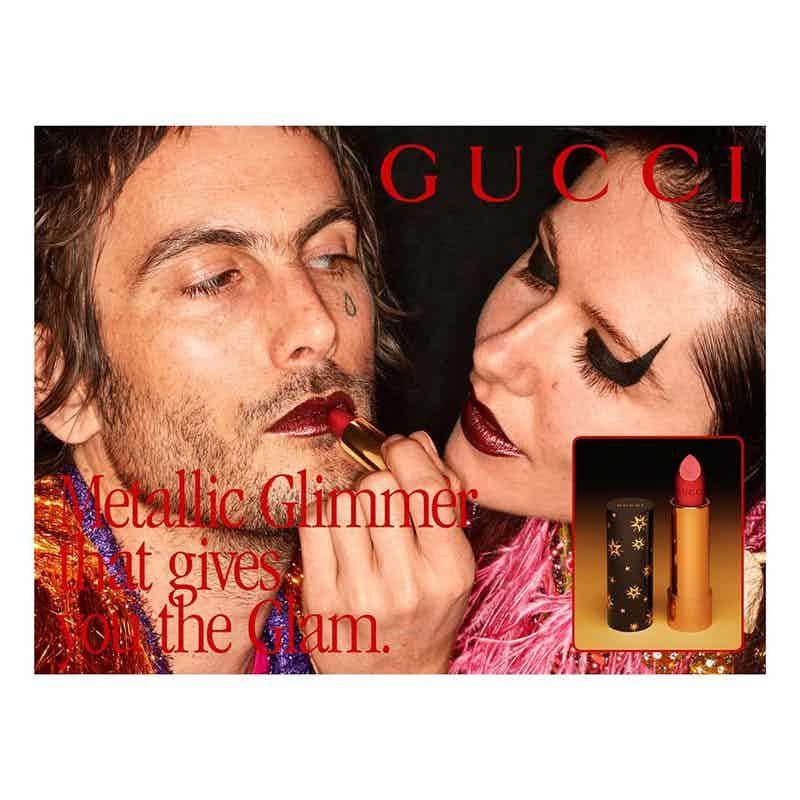 GUCCI - Coty Beauty Photographer: Martin Parr Model: Mae Lapres, Zumi Rosow Stylist: Jonathan Kaye