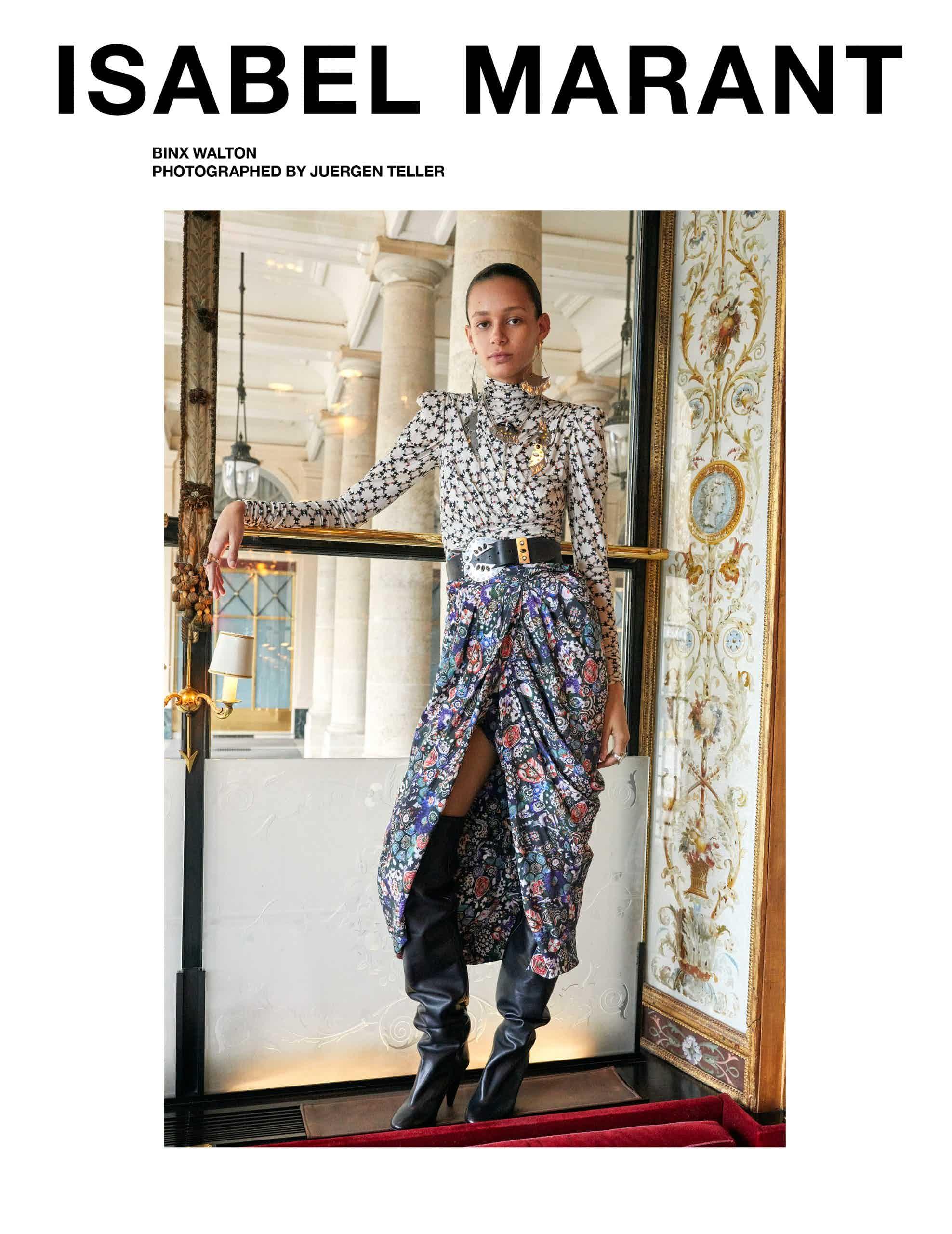 ISABEL MARANT - Fall 2019 Campaign Photographer: Juergen Teller Model: Anna Ewers, Cara Tylor, Binx, Parker Van Noord Stylist: Géraldine Saglio Location: Paris