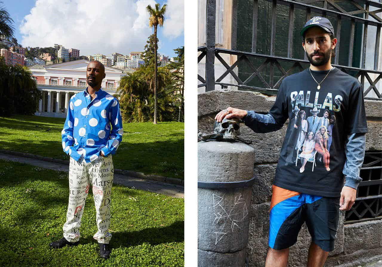 PALACE - Lookbook Spring Summer 2019 Photographer: Juergen Teller Model: Rory Milanes, Juan Saavedra, Lucien Clarke, Heitor Da Silva Stylist: Gabriel Pluckrose Location: Naples, Italy