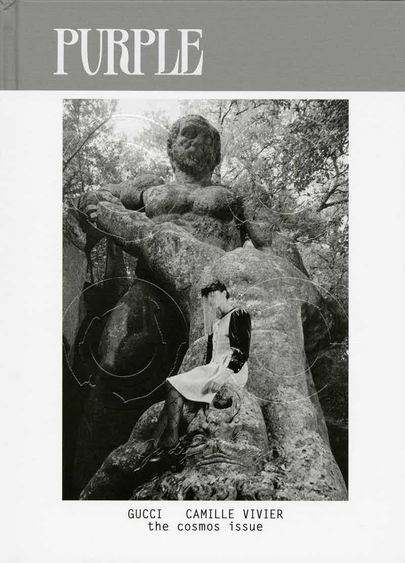 PURPLE MAGAZINE - The Cosmos Issue Photographer: Camille Vivier Model: Roberta Di Lillo, Sabrina Querci, Iva Drekalovic, Fara Grieco, Gianluca Persia Stylist: Léopold Duchemin Location: Bomarzo, Italy