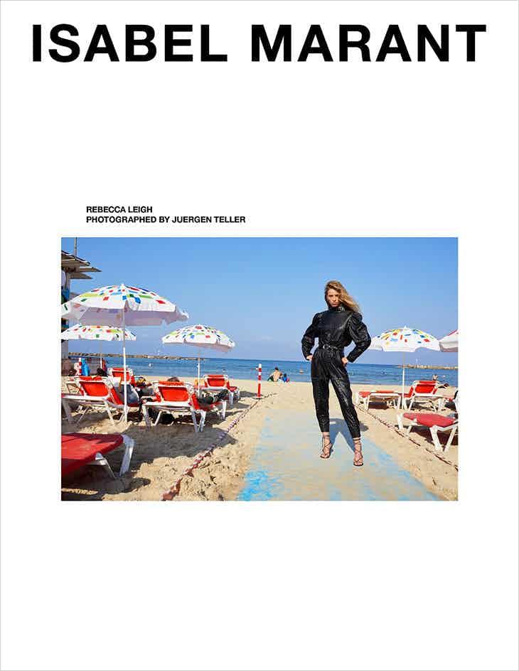 ISABEL MARANT - Spring Summer 2020 Photographer: Jurgen Teller Model: Rebecca Leigh, Jonas Gloeer Stylist: Géraldine Saglio Location: Tel Aviv