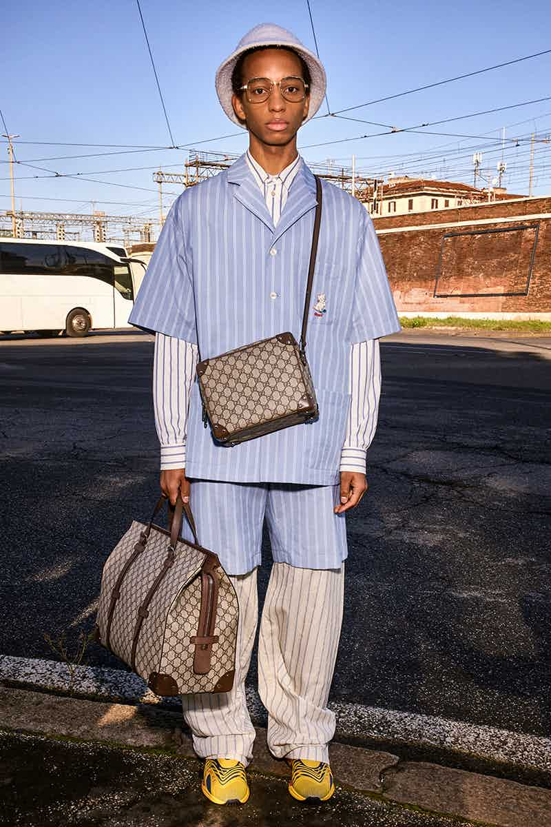 GUCCI - Lookbook Pre Fall 2020  Photographer: Bruce Gilden Model: Dwight, Erik, Hao, Lodewick, Massaer, Raheeml, Matisse, Yun Stylist: Jonathan Kaye Location: Rome, Italy