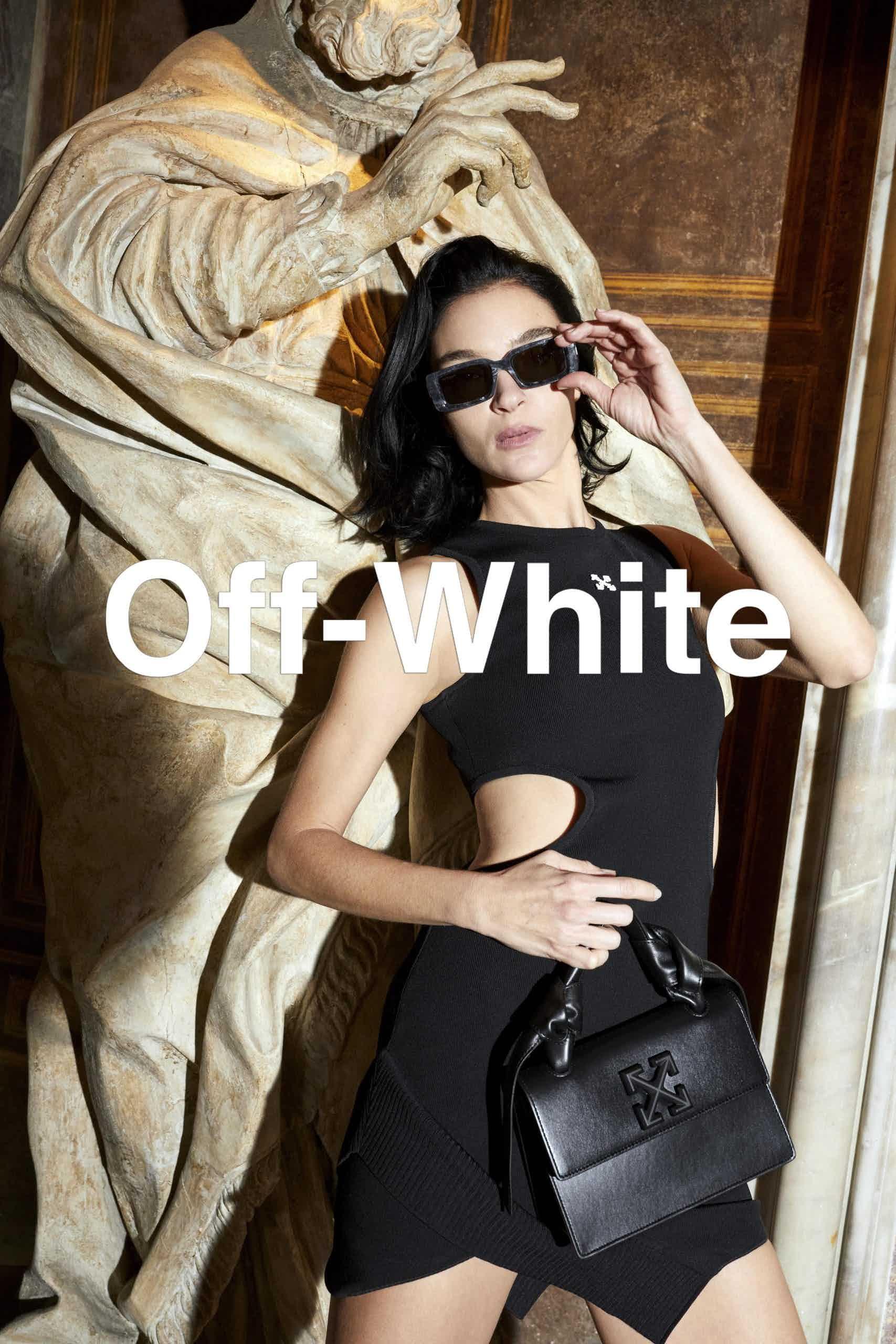 OFF-WHITE - Eyewear/Bags Campaign Photographer: Juergen Teller Model: Mariacarla Boscono Stylist: Malcolm Edwards Location: Naples, Italy