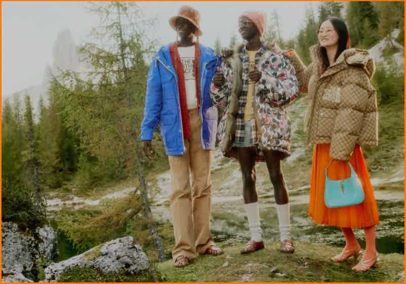 GUCCI - NORTH FACE X GUCCI Photographer: Daniel Shea Stylist: Jonathan Kaye