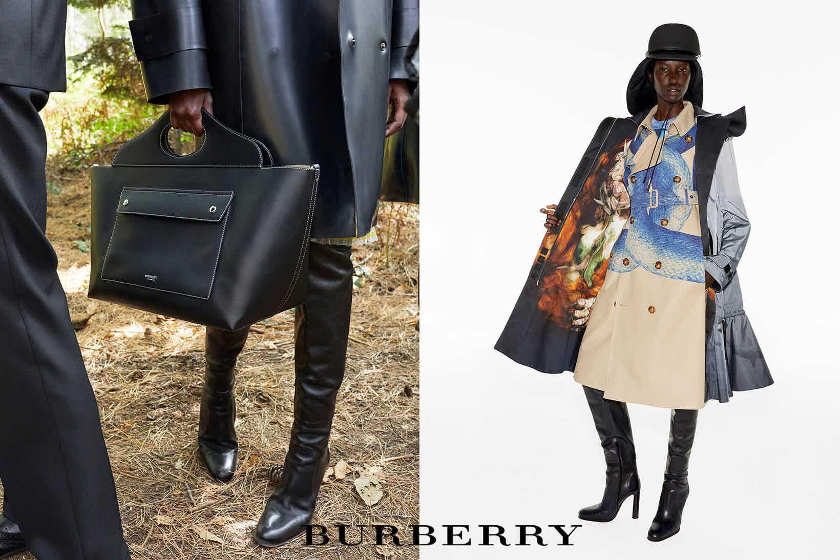 BURBERRY - Spring Summer 2021 Photographer: Juergen Teller Model: Anok, He Chong,  Aylah Stylist:  Gary Gill