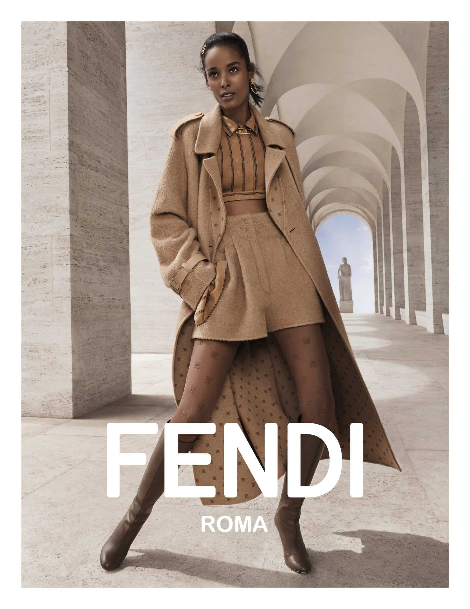 FENDI - FW21 Photographer: Craig McDean Model: Rianne Van Rompaey, Malika Louback, He Cong, Tianna St Louis Stylist: Melanie Ward Location: Rome